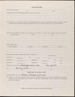 World War I Service Record for Everett B. Blake, p. 3