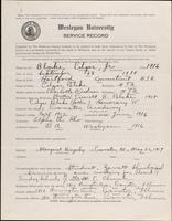 01.002.041 World War I Service Record for Edgar Blake Jr.