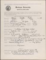 01.002.044 World War I Service Record for Walter Parks Bliss