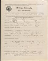 01.003.009 World War I Service Record for Paul Brady