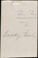 World War I Service Record for Paul Brady, p. 6