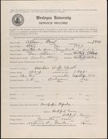World War I service record for Lew Allen, p. 1