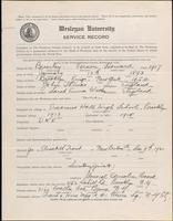 01.003.014 World War I Service Record for Vernon Howard Brierley