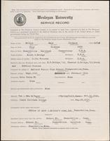 01.003.012 World War I Service Record for Amos Dickers Bridge