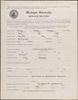 01.003.003 World War I Service Record for Burton Charles Bovard