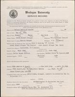 01.003.015 World War I Service Record for Benjamin Robert Briggs