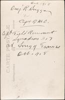 World War I Service Record for Benjamin Robert Briggs, p. 6