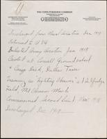 World War I Service Record for William Rowland Boyd, p. 5