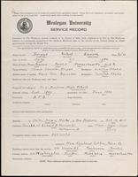01.003.017 World War I Service Record for Robert Everson Briggs