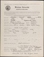 01.001.014  World War I service record for Vincent Blake Allison