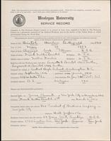 01.003.018 World War I Service Record for Harlow Butterfield Bristol