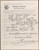 01.003.020 World War I Service Record for Raymond Wolcott Bristol