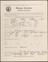 01.003.021 World War I Service Record for Robert Weldon Brooks