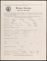 01.003.022 World War I Service Record for Charles Barrett Brown