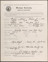 01.003.023 World War I Service Record for James Spencer Brown Jr.