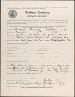 01.003.024 World War I Service Record for Kenneth Waldon Brown