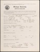 01.003.025 World War I Service Record for Marshall Brown