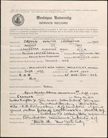 World War I Service Record for Walter Creighton Brown, p. 1
