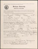 World War I Service Record for William Eiams Bruner, p. 1