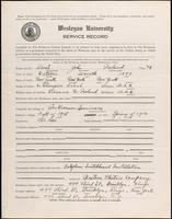 01.003.029 World War I Service Record for John Ireland Brush