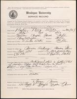 01.003.031 World War I Service Record for Harry Winter Bugbee