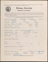 01.003.033 World War I Service Record for Leonidas Hamlin Bunyan