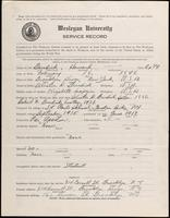 01.003.035 World War I Service Record for Howard Burdick
