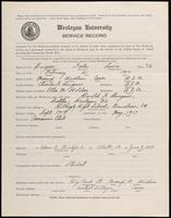 World War I Service Record for Foster Lewis Burgess, p. 1