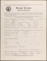 01.003.037 World War I Service Record for Harold Frederick Burgess