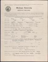 01.001.007 World War I service record for Arlon Taylor Adams