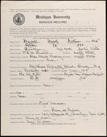 01.003.040 World War I Service Record for Harold Arthur Burrell