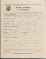 01.003.042 World War I Service Record for Walter Scott Buswell