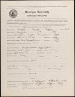 01.003.043 World War I Service Record for Charles Evans Butler