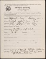 01.003.044 World War I Service Record for Harry Cullendan Butterworth