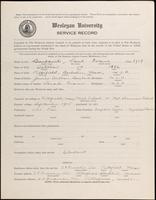 01.003.034 World War I Service Record for Paul Evans Burbank