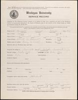01.003.039 World War I Service Record for Alonzo Perine Burnett