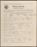 01.004.001 World War I Service Record for Walter Guyton Cady