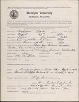World War I service record for Mark Andrews, p. 1
