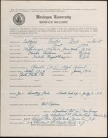 01.004.002 World War I Service Record for Austin Earl Calkins