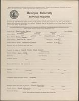 01.004.005 World War I Service Record for Charles H. Carey