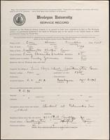 01.004.006 World War I Service Record for Homer Franklin Carey