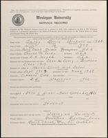 01.004.007 World War I Service Record for Morris Winfield Carey