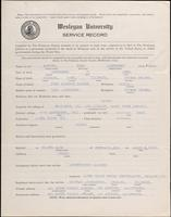 01.004.015 World War I Service Record for Fred Langhenry Carver