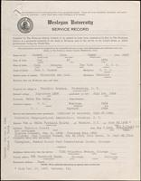 01.004.018 World War I Service Record for Olin Mason Caward