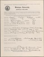01.004.022 World War I Service Record for Charles Grahm Chapin