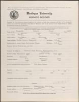 01.004.026 World War I Service Record for Hubert Biays Chappell