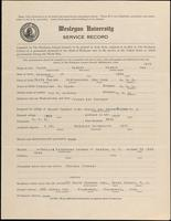 01.004.031 World War I Service Record for Albert Merwin Clark