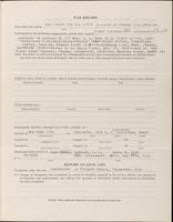 World War I Service Record for Albert Merwin Clark, p. 3