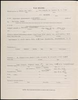 World War I Service Record for Albert Merwin Clark, p. 2