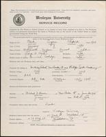 01.004.032 World War I Service Record for Eugene Shepard Clark